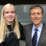 Lila Copeland with Dr. Neal Barnard of the Physician's Committee.