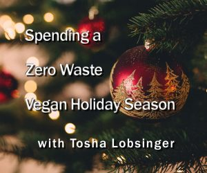 Spending a Zero Waste Vegan Holiday Season, with Tosha Lobsinger of Peace People Project