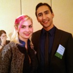 Jenni with Alan Darer from Mercy for Animals at the AR Conference.